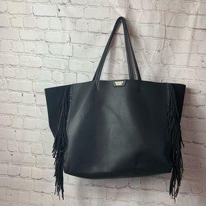 Victoria Secrets Black Tote Bag and Makeup Case